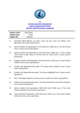 10.07.2014 Tarih ve 2014-23 Sayılı Karar
