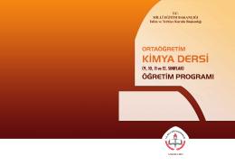 2014-2015 Öğretim Dönemi 9-12. Sınıf Kimya Müfredatı
