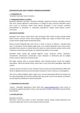 şehzadeler ilçesi logo tasarım yarışması şartnamesi