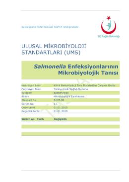Salmonella enfeksiyonları - Türkiye Halk Sağlığı Kurumu