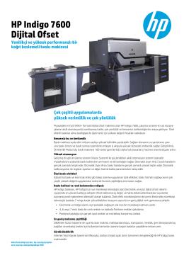 HP Indigo 7600 Dijital Ofset