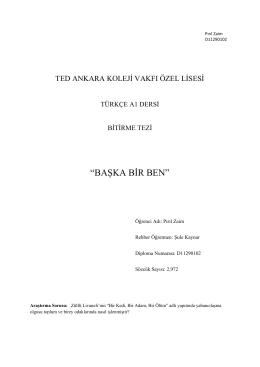 """BAŞKA BİR BEN"" - tedprints"