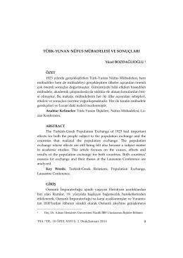 Full Text - Türkiye Sosyal Araştırmalar Dergisi