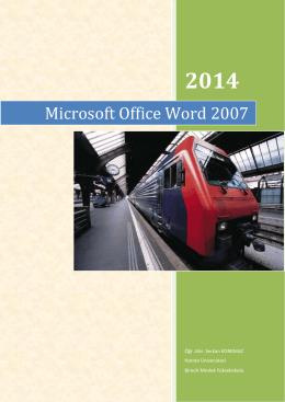 Microsoft Office Word 2007 - Birecik Meslek Yüksekokulu