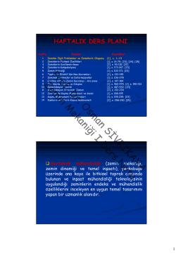 Prof. Dr. Osman SİVRİKAYA Zemin Mekaniği I Ders Notu