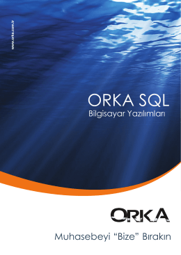 Orka Program Broşür