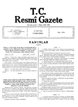 ANUNLAR - Resmi Gazete