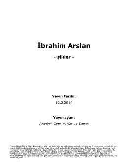 İbrahim Arslan - Antoloji.Com