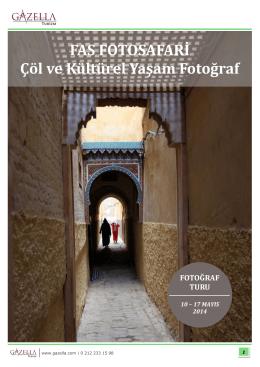 FAS FOTOSAFARİ Çöl ve Kültürel Yaşam Fotoğraf