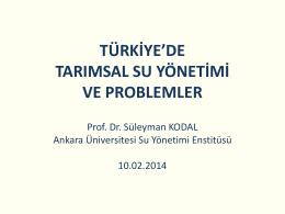 Prof. Dr. SüleymanKodal_Sunum - Ankara Üniversitesi Su Yönetimi