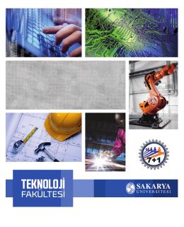 Teknoloji Fakültesi Tanıtım Kataloğu