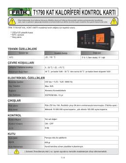 t1790 kat kaloriferi kontrol kartı