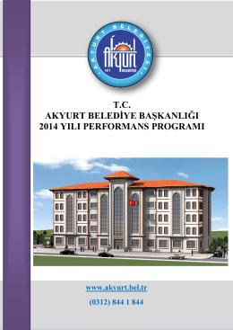 akyurt belediyesi 2014 yılı performans programı