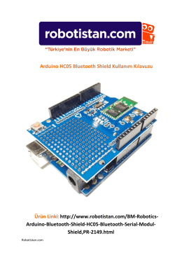 Arduino HC05 Bluetooth Shield Kullanım Kılavuzu Ürün Linki:http