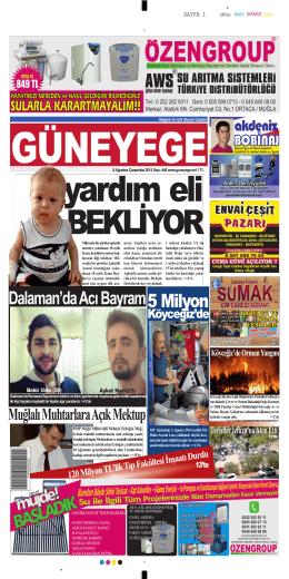 06 Ağustos 2014 - Güney Ege Gazetesi