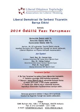 Yarışma Broşürü - Liberal Düşünce Topluluğu