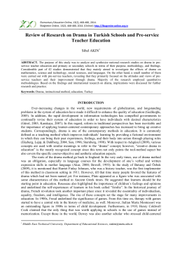 Review of Research on Drama in Turkish
