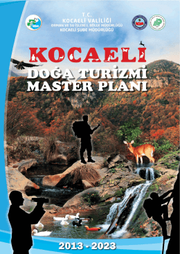 Kocaeli Doğa Turizmi Master Planı - Orman ve Su İşleri Bakanlığı