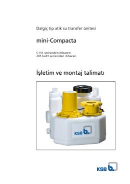 mini-Compacta İşletim ve montaj talimatı