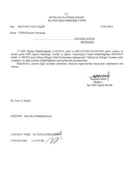 TÜREB Resim Yarışması - reyhanlı ilçe millî eğitim müdürlüğü