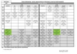 Ders Programı - Düzce Üniversitesi Sosyal Bilimler Meslek