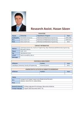 Research Assist. Hasan Sözen