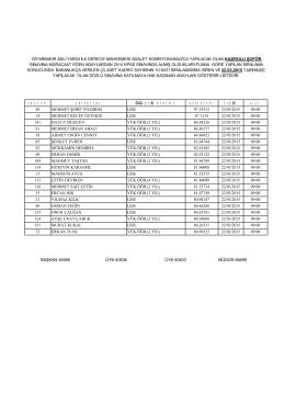 2015 kadrolu şoför mülakat listesi