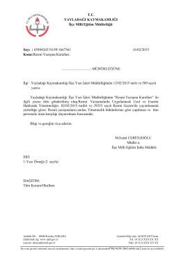 resmi yazışma kuralları 16.02.2015 13:42