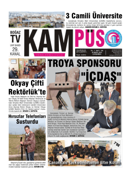 KAMPÜS Gazetesi - Çanakkale Onsekiz Mart Üniversitesi