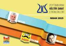 E-Dergi Nisan 2015 - Zeytinburnu Kültür Sanat
