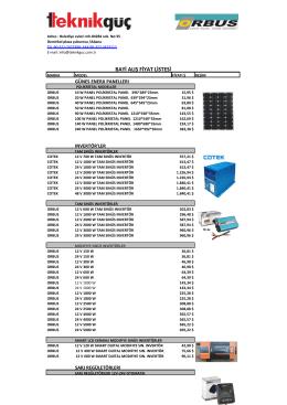 makinaların enerji tüketim hesaplamaları - Er-CE