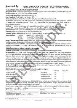 Temel Bankacğlğk Ürünleri Bilgi ve Talep Formu-V4C