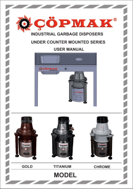 industrial garbage disposers under counter mounted