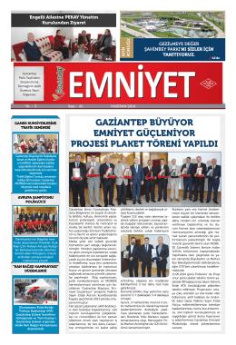 Haziran 2014 Sayı:41 Yıl:3 - Gaziantep Emniyet Müdürlüğü