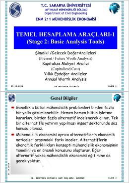 Sunum 5 (18/11/2014) : Hesaplama Araçları -1
