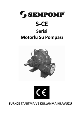 Serisi Motorlu Su Pompası