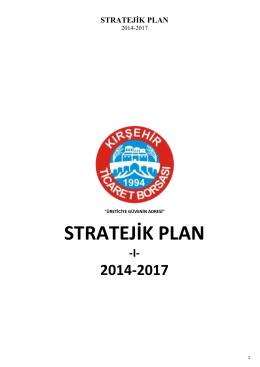 STRATEJİK PLAN - Kırşehir Ticaret Borsası