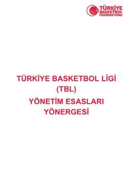 TBL Yönergesi - Türkiye Basketbol Federasyonu