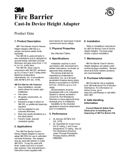 Cast-In Device Height Adapter