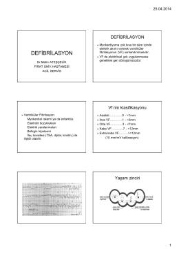 DEFİBRİLASYON - acil tıp sitesi
