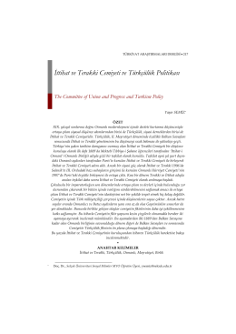 İttihat ve Terakki Cemiyeti ve Türkçülük Politikası