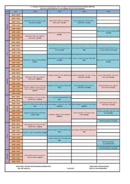 gün saat 1.sınıf 2.sınıf 3.sınıf 4.sınıf 08:00 – 08:50 09:00 – 09:50 10:00