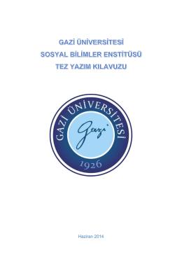 Haziran 2014 - Gazi Üniversitesi