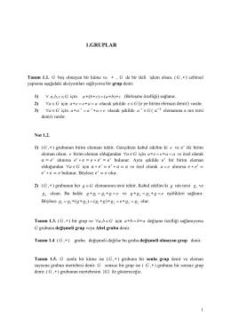1.GRUPLAR