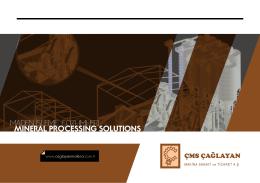 Maden İşleme Çözümleri Kataloğu