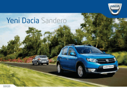 Broşür - Dacia