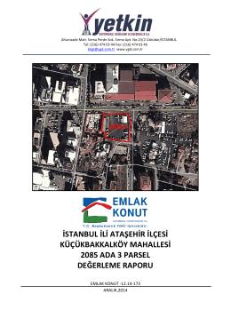 istanbul ili ataşehir ilçesi küçükbakkalköy mahallesi 2085 ada 3