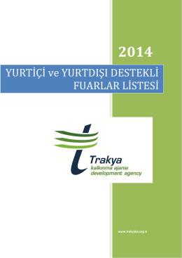 2014 - Kırklareli Yatırım Destek Ofisi
