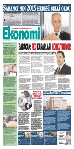 21 OCAK 2014 - Ekonomi Gazetesi