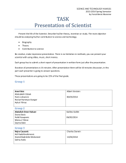 TASK Presentation of Scientist